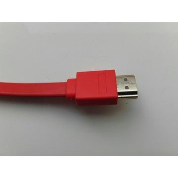 Kabel HDMI krótki 30cm, kolor czerwony NOWY w wore