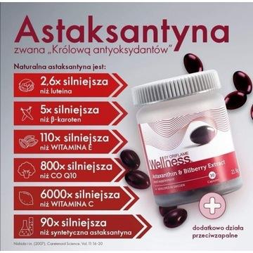 Oriflame WELLNESS Astaksantyna ekstrakt z borówek