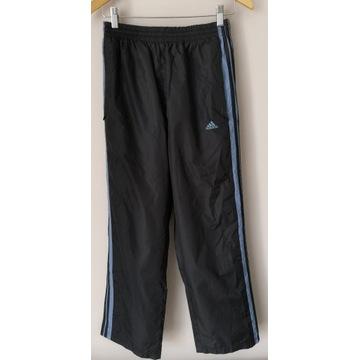 Spodnie Adidas nowe dres czarne zamek bieganie M