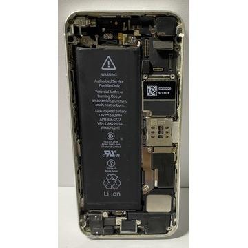 Apple iPhone 5s 16GB SILVER / Zestaw niekompletny!