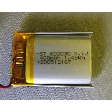 Akumulator Li-po 400mAh 3.7v
