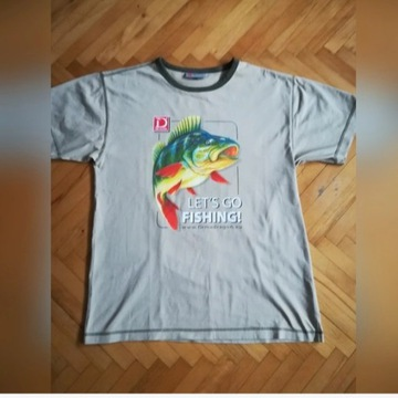 Koszulka Dragon LETS GO FISING OKOŃ roz. M