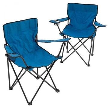 Zestaw 2 krzeseł kempingowych, wędkarskich+torba!