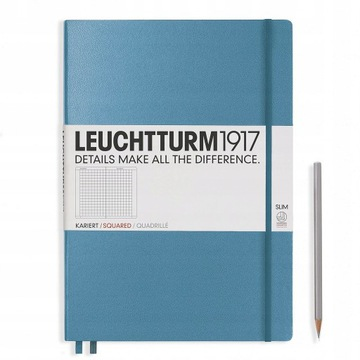 Notatnik Leuchtturm1917 Slim A4 NIEBIESKI gładki