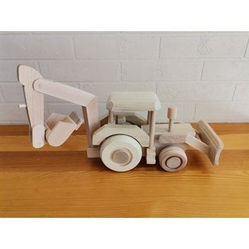 Drewniany pojazd - koparka - EKO zabawki