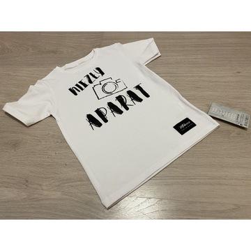 Koszulka chłopięca biała t-shirt NIEZŁY APARAT