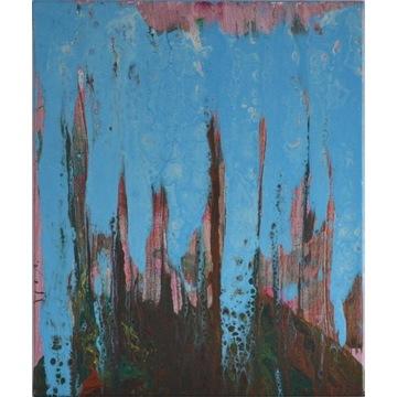 Ręcznie malowany obraz abstrakcyjny 50 x 60 cm