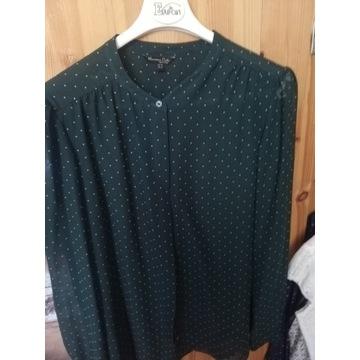 Massimo Dutti bluzka, koszula zielony w kropeczki