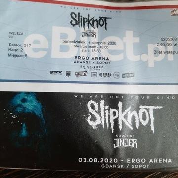 Bilet na koncert grupy Slipknot i  kapeli Jinjer