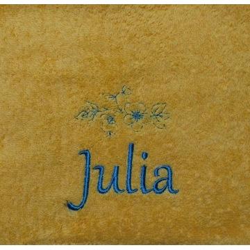 Ręcznik 30x50 z haftem imienia Julia