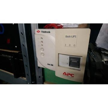 2x UPS - Fideltronik Ares 300 oraz APC Back-Ups300