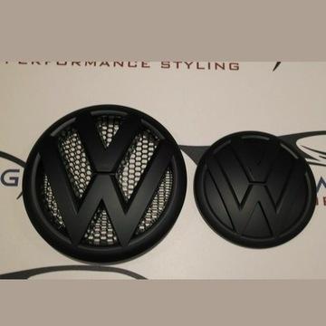 Emblemat Znaczek do VW Transportera T5 Czarny Matt