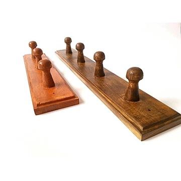 wieszaki drewniane zestaw 2 kolory  29 i 38cm