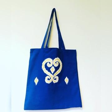Eco torba bawełniany, ręczne malowany