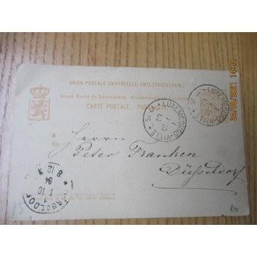 kartka pocztowa CARTE POSTALE LUXEMBURG 1884