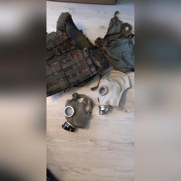 Oporządzenie taktyczne asg kamizelka plecak maski