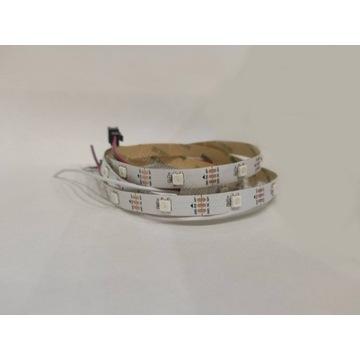 Taśma LED WS2812B Białe PCB ARGB 30led/1m