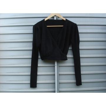 Czarny sweter bolerko długi rękaw Excellent 40 L