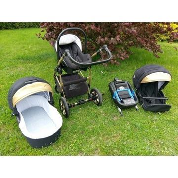 Wózek spacerówka fotelik baza Baby Lux Gold gratis