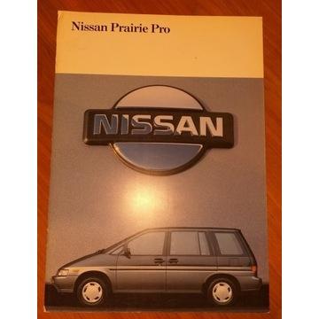 Prospekt samochodowy 30 str NISSAN PRAIRIE lata 90