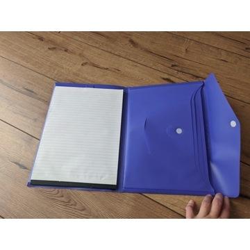 Teczka na dokumenty skoroszyt z notatnikiem
