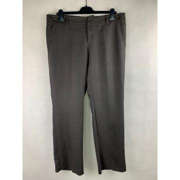 Brązowe spodnie MEXX 100% len szerokie nogawki 44