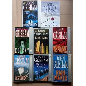John Grisham 8 książek, używane