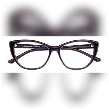 Okulary korekcyjne damskie wg recepty, czarne