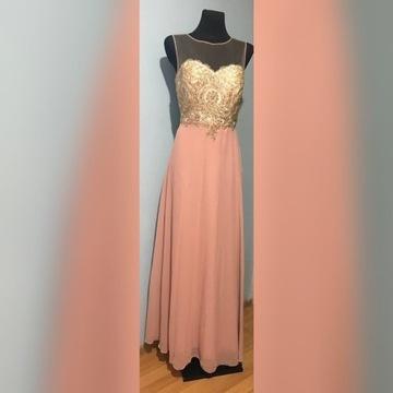 Suknia sukienka wieczorowa koronkowa długa