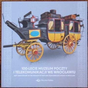 Folder 100-lecie Muzeum Poczty i Telekomunikacji