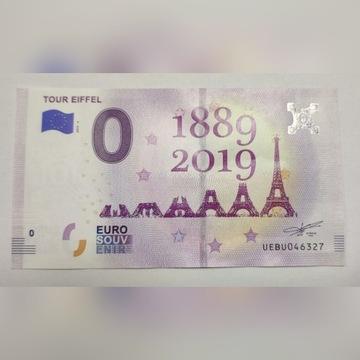Banknot 0 Euro Francja Wieża Eiffela - jedyny!!