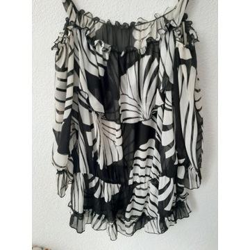 Tunika z czarno-białym wzorem