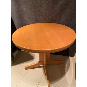 Bukowy (lity) stół okrągły rozkładany śr. 85cm