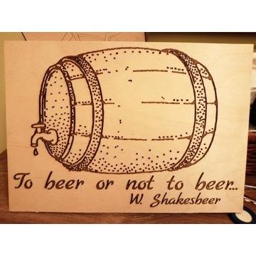 Drewniany obraz W.Shakesbeer