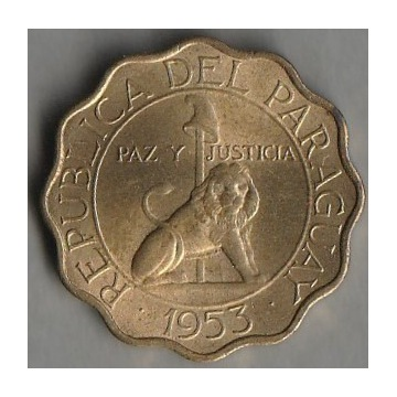 Paragwaj 50 centimos 1953 - stan 1/2