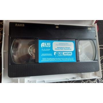Kaseta VHS z filmem przyrodniczym