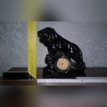 Zegar kominkowy  lew