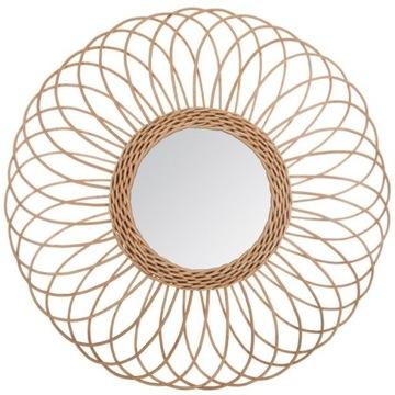 Lustro boho ratanowe okrągłe