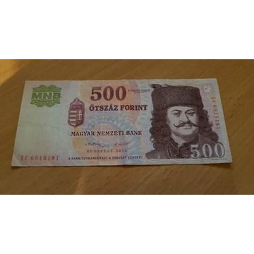 Węgry 500 forint 2012