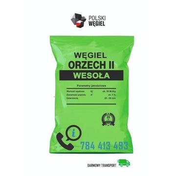 Węgiel WESOŁA Orzech II [30 MJ/kg] DOSTAWA GRATIS!