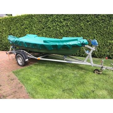 lodz lódź łódka wedkarska z przyczepą -  385x145