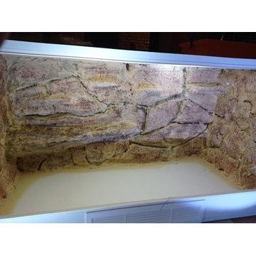 Terrarium szer. 125 wys. 64 gł.55 nowe, MDF białe