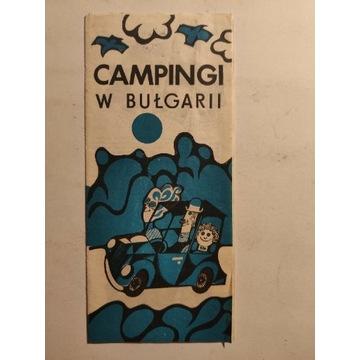 Ulotka PRL Campingi w Bułgarii