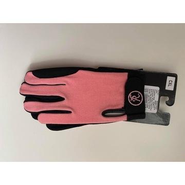 Rękawice jeździeckie,  różowe Riders Trend