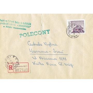 Mińsk Mazowiecki - Koperty listów polecon. 1960-80