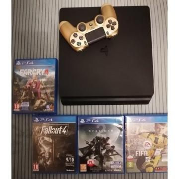 Zestaw Konsola PS4 Slim 500gb Pad i Gry stan B.db
