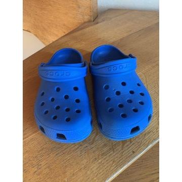 Buty klapki dziecięce crocs niebieskie