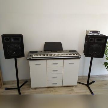 Sprzęt muzyczny, klawisze Roland + nagłośnienie