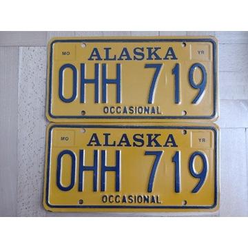 Para tablic ze stanu Alaska USA