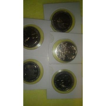 Monety okolicznościowe 5marek 5 sztuk